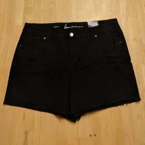 NWT Lane Bryant Black Stretch Jean Shorts
